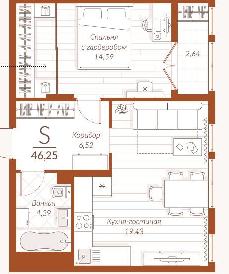 Продажа 1-комнатной новостройки, Тула, Генерала Маргелова ул,  2