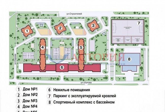 3-комн. , Тульская область, Тула, Пролетарский, Строителей ул, 2